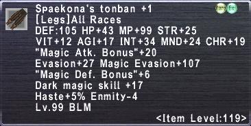 Spaekona's Tonban +1