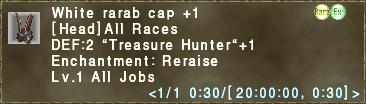 White rarab cap +1