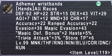 Adhemar Wristbands