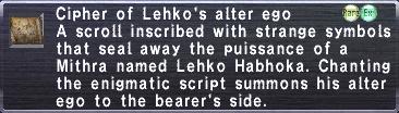 Cipher-Lehko