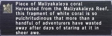 Maliyakaleya coral