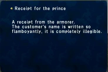 Receipt for the Prince