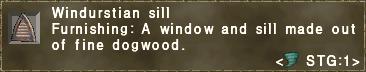 Windurstian sill