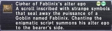 Cipher Fablinix