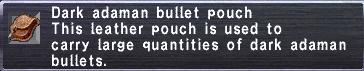 Dark adaman bullet pouch