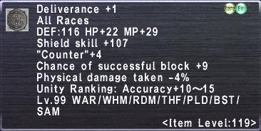 Deliverance +1