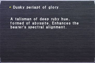 Dusky Periapt of Glory