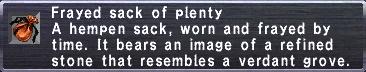Frayed Sack of Plenty