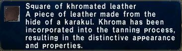 Khromated Leather