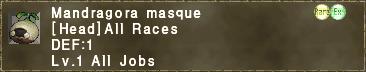 Mandragora masque