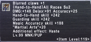 Blurred Claws +1