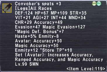 Convoker's Spats +3