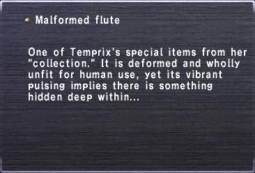 Malformed flute