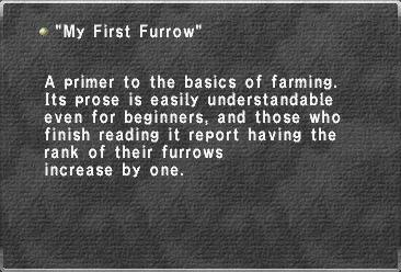 My First Furrow