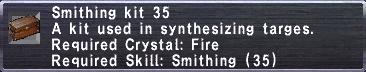 Smithing Kit 35