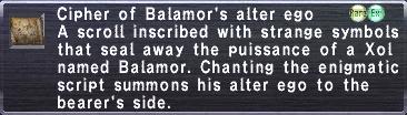 Cipher-Balamor