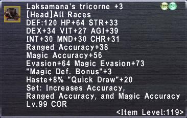 Laksamana's Tricorne +3