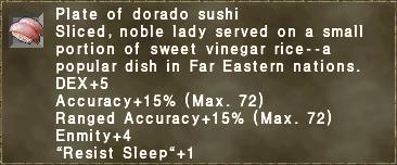 Plate of dorado sushi