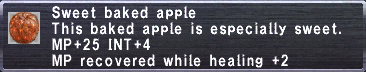 Sweet baked apple