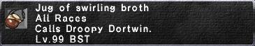 Swirling broth