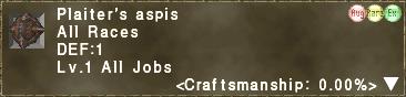 Plaiter's aspis