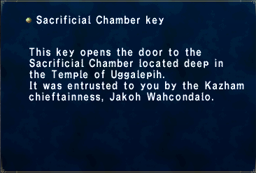 Sacrificial Chamber Key
