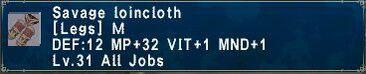 Savage loincloth