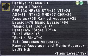 Hachiya Hakama +3