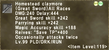 Homestead claymore