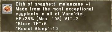 Dish of spaghetti melanzane +1