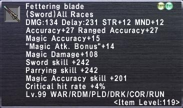 Fettering Blade
