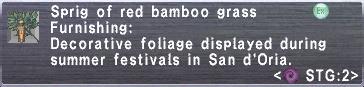 RedBambooGrass