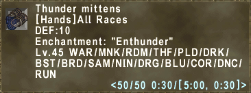 Thunder mittens