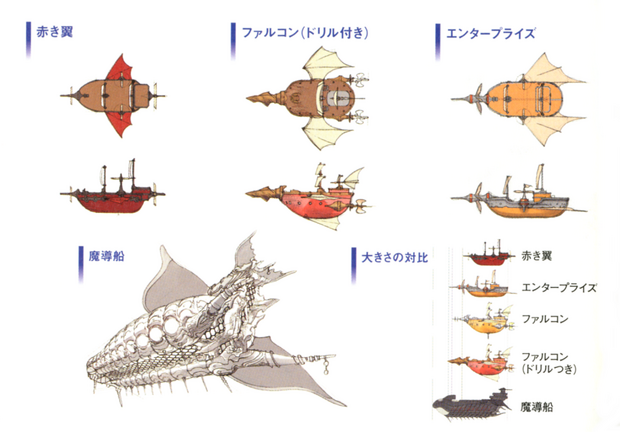 FFIV DS Airships