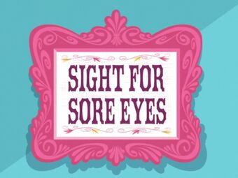 "Meaning of ""A Sight for Sore Eyes"""