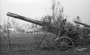 Image result for German 15.2cm Kanone Haubitze 433/1 [R] field gun