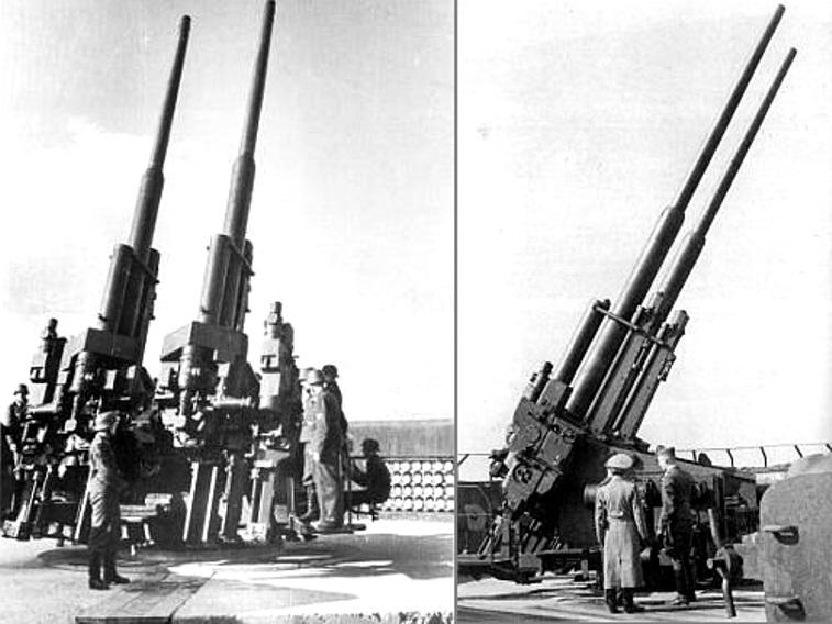 Image - 12.8 cm Flak Zwilling ...