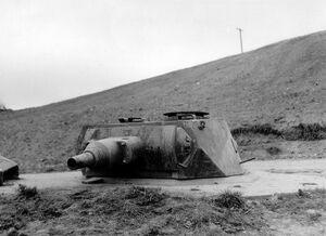 German turret at Omaha Beach