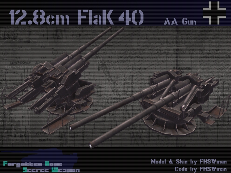 12.8 cm Flak Zwilling 40 | For...