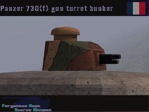Panzer 730(f) turret gun