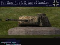 Panther Ausf. FG turret bunker