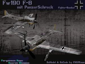 FW190 F-8 mit panzerschreck