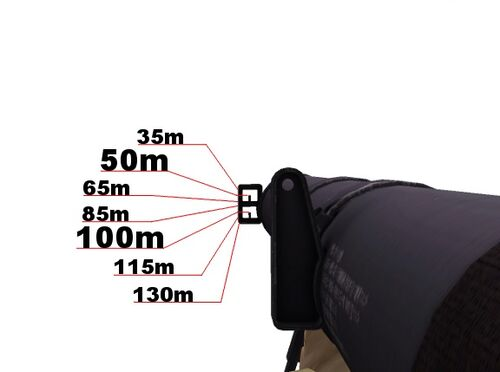 Type 4 90 mm AT Rocket Launcher iron sight