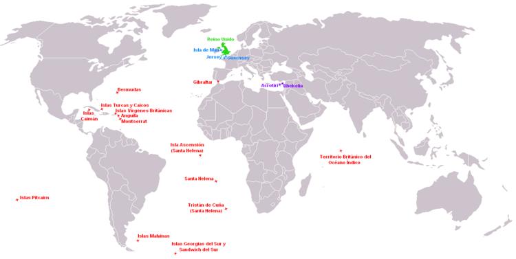 Location British overseas territories
