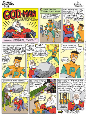 God-Man causes a omnipotence Paradox