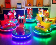 Animal kiddie bumper cars