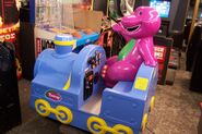 Barney coin-op ride