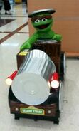 Oscar the Grouch car coin-op ride