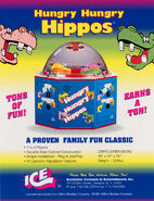 Hungry Hungry Hippos arcade game