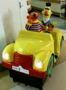 Bert and Ernie car coin-op ride